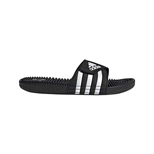 adidas Adissage, White/Black, 11 M - Adissage Womens Sandal Adidas