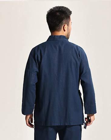 Acvip para azul manga hombre larga tradicional de Chaqueta qxwqa7zrv
