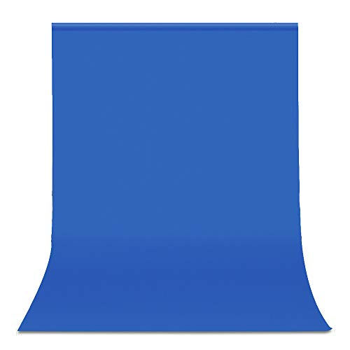 UTEBIT Blue Backdrop Polyester Solid Color 6x9 Ft Photo Video Screen Background Cloth Portable 1.8x2.8m Chromakey Backdrops Sheet Wrinkle Resistant for Photography Film Portrait (Stand Not Included)