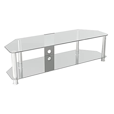 4acf21443be King Glass TV Stand for HD LED LCD 4K 8K QLED TVs up to 65