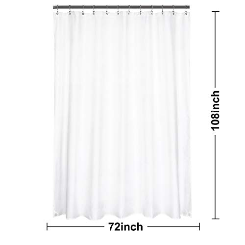 N&Y HOME Extra Long Shower Curtain or Liner 72