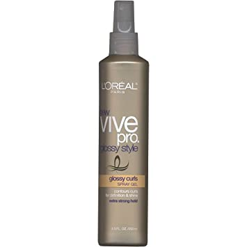 L Oreal Paris Vive Pro Glossy Style Glossy Curls Spray Gel, 8.5 Ounce