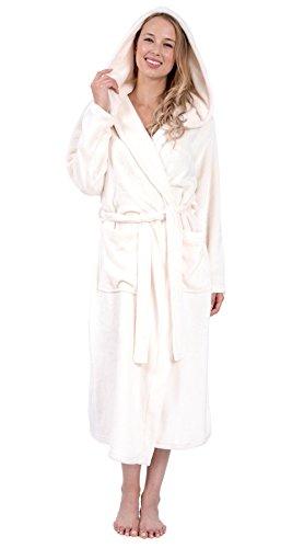 - Patricia Women's Plus Size Premium Soft Plush Hooded Robe Full Length 48