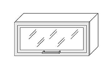 kchenschrank hngeschrank 80cm mit klapptr glas rahmen mdf - Hangeschrank Kuche Glasturen