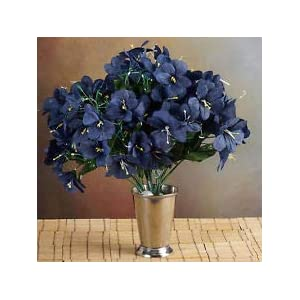 6 Navy Blue Bushes Silk Mini PRIMROSES Wedding Flowers Bouquets Decorations Sale 21