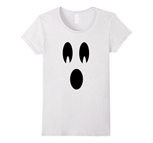 [Women's Halloween Ghost Shirt XL White] (Easy Halloween Costume To Wear To Work)