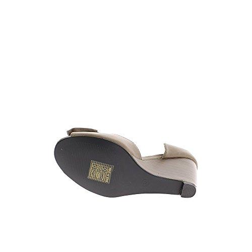 Chaussures femme compensées taupes talon de 8cm