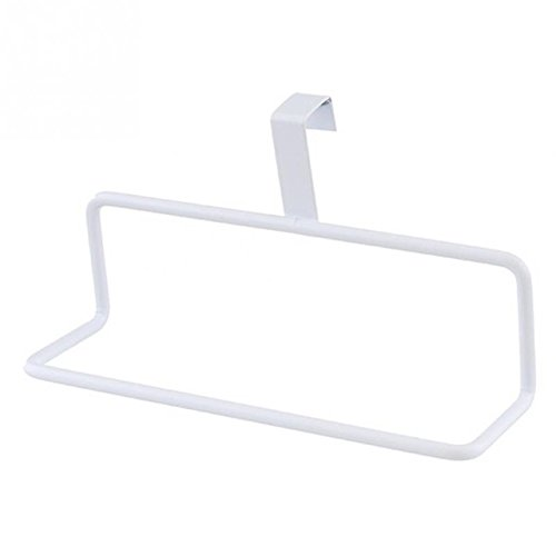 Seatracl Towel Hanger Bathroom Kitchen Multi-Purpose Single-Pole Door Back Style Towel Rack Bathroom Rag Hanging Rack White