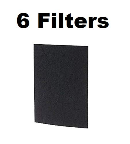 Carbon Filter for Holmes Bionaire GE HAP60, HAPF60PDQ-U, A1260C 6-PACK