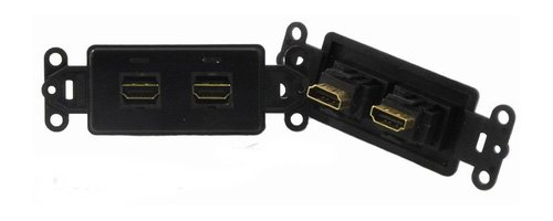 PowerBridge HDMI-2-BK Pass-Thru Decora Insert with Dual HDMI (Each, Black)