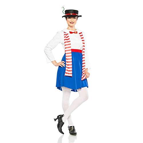 Seeing Red Women's English Nanny Poppins Costume (Medium) ()