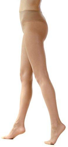 Intuicia 20 Den Top Bikini Premium Pantyhose Reinforced Toe Scented Tights (4, Vizone)