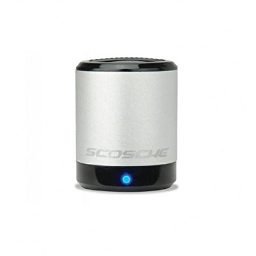 Scosche PMSSR boomCAN 3.5mm Aux Portable Speaker (Silver) by Scosche