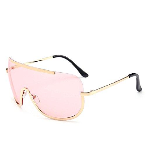 Zombie Facepaint (Willsa Women Unisex Fashion Retro Glasses Vintage Aviator Mirror Lens Sunglasses (Pink, 6.5))