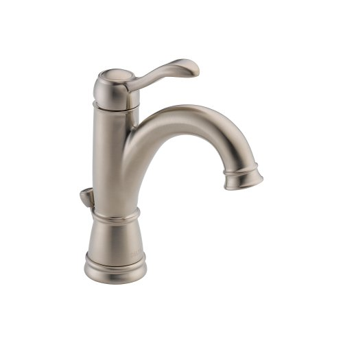 (Delta 15984LF-BN Porter Single Handle Centerset Bathroom Faucet, Brushed Nickel)