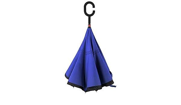 Zihuist CHandle Paraguas de Doble Capa A Prueba de Viento Plegable ...