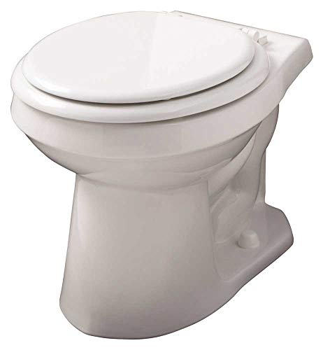 Gerber Plumbing AV-21-852 Gerber Avalanche Watersense High-Efficiency Siphon Jet Toilet Bowl with Round Front, 1.6 Gpf/1.28 Gpf, White - 2463438