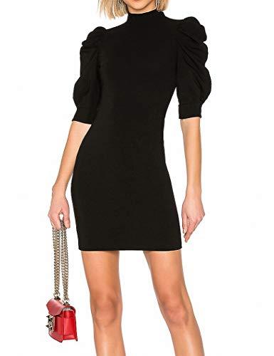 - alice + olivia Puff Sleeve Women's Mini Sheath Dress Blacks