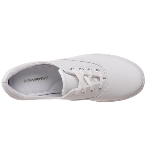 Women's White Leather Leather Up Sneaker Lace Janey Grasshopper Zqd8Z