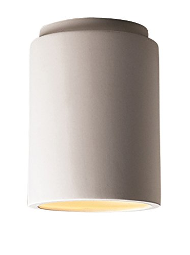 Justice Design Group Lighting CER-6100W-BIS Outdoor Flush-Mount with Ceramic Bisque Shades, ()