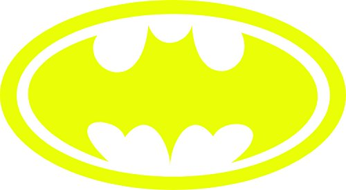 Batman Symbol Auto Car All Weather 4 Seasons Hood Window Decal Vinyl Bumper Sticker Mural Yellow 22