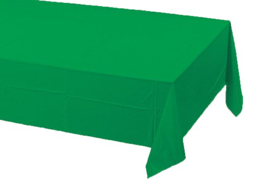 Creative Converting Touch of Color Paper Banquet Table Cover, Emerald Green 54 in x 108 in (40.5 SQ FT) ()