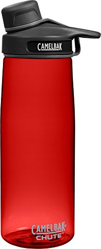 (CamelBak Chute Water Bottle, 0.75 L, Cardinal)