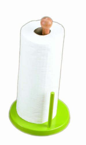 Creative Home Natural Bamboo Upright Paper Towel Holder ()