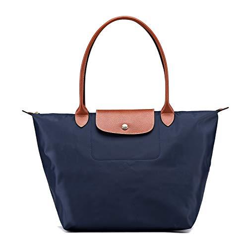 Le Pliage Sac Bleu Longchamo Femme Marine Cabas Pour Eqtw6T86x