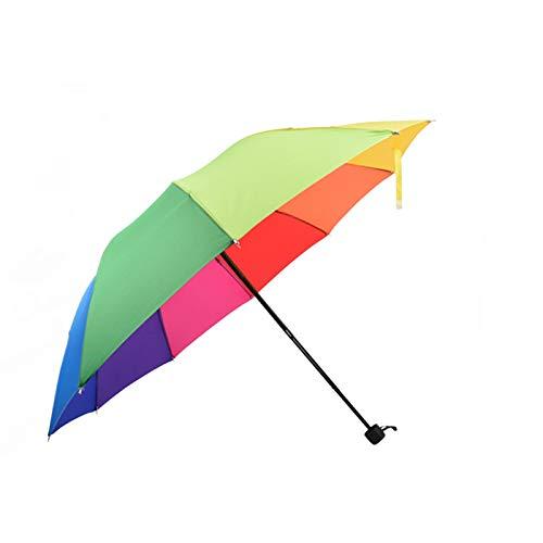 Paraguas Para Niños Paraguas De Arco Iris Lluvia Y Lluvia ...