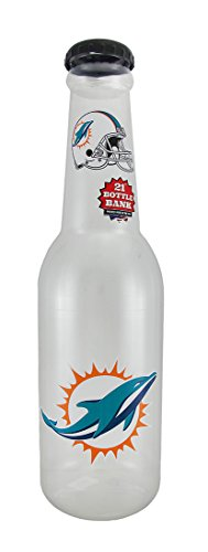 Maurice Sporting Goods NFL Miami Dolphins Jumbo 21 in. Officially Licensed Bottle Bank (Piggy Bank Dolphins)
