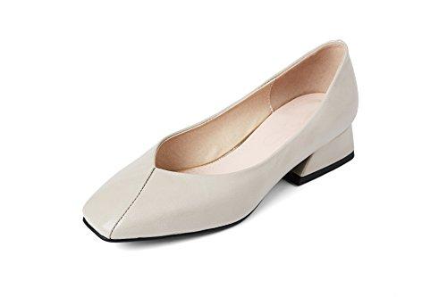 épais avec Chaussures Wild Seul Bas à Talons Meter Tête Gray Fashion Femmes Sandales Carrée RYxREqZU1w
