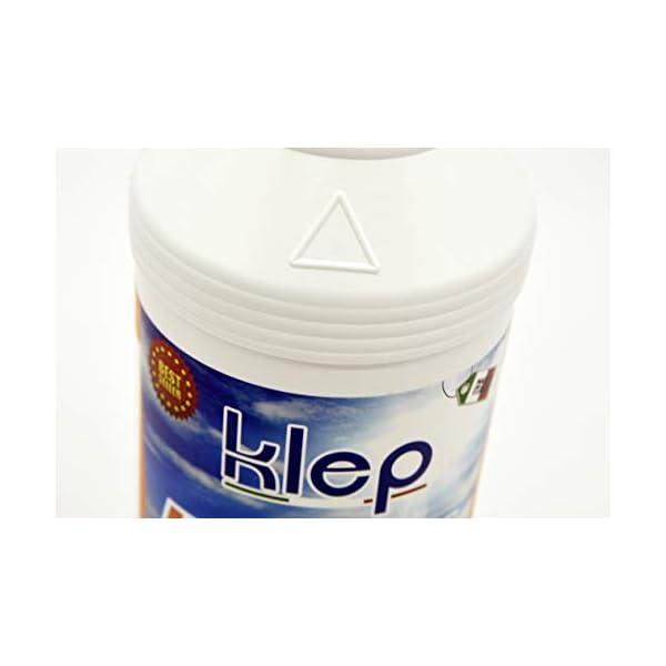 KLEP - Cloro Liquido Eco Cloro MULTIAZIONE Pulizia Manutenzione IGIENE TRIPLEX per Piscina E Spa 10 AZIONI 1 kg 4 spesavip
