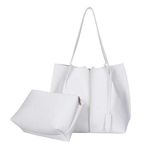 Nueva Simplebolso Blanco Bolsos Moda Hombro Bolso Doble Meaeo De Todos white Match Las De Bolso Solo La Señoras vq5txwBz