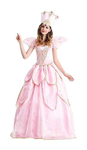 Women's Fairy Godmother Costume Halloween Retro Court Suit Stage Show Princess Dress (X-Large) Pink -