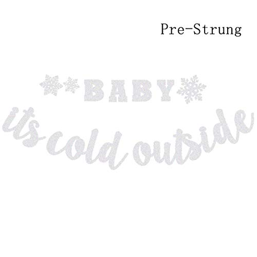 Winter Baby Shower Decorations (Baby It's Cold Outside Banner Winter Snowflake Baby Shower Birthday Party Decorations Christmas Winter Holiday Party Supplies Decorations Photo)