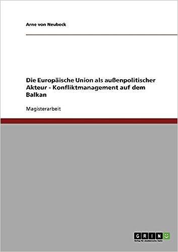 Konfliktprävention in der EU (German Edition)