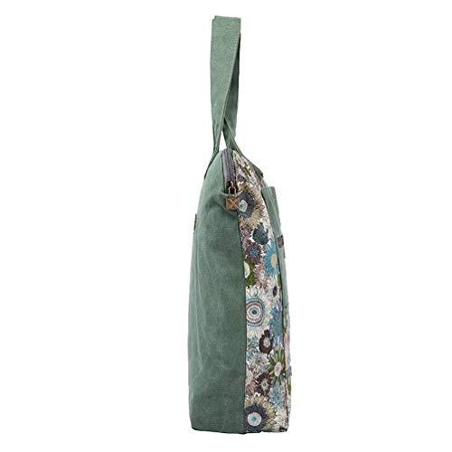 bandoulière à Portable Vert à coloré Moontang Main Sac Taille Sac Vert 7EPqWWw5
