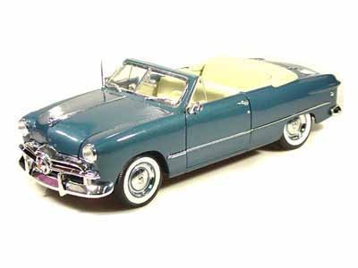 1949 Ford Convertible Top Down 1/18 Blue ()