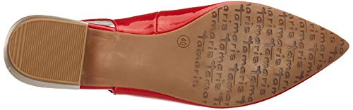 Talón De Abierto Para Rojo 1 Mujer chili 1 29402 Patent 520 Tamaris 22 Zapatos ZBgYwqx