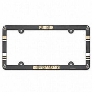 (NCAA License Plate with Full Color Frame, Purdue University)