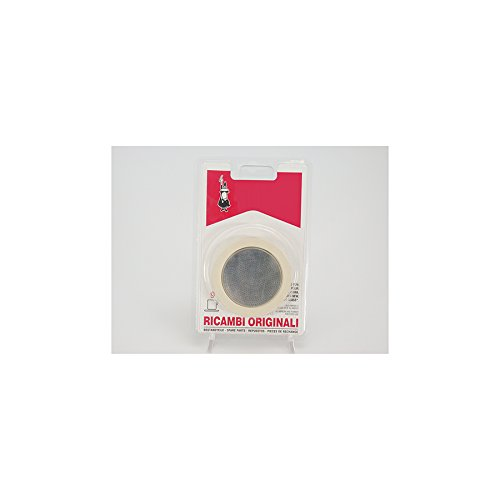 Bialetti 3 Replacement Seals and 1 Filter for 6 Cup Moka Express Blister Pack by Bialetti