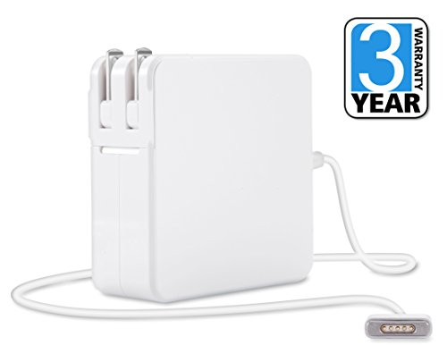 Best MacBook Air/Pro Charger, 60W Power Adapter Replacement with MagSafe 2 T-Tip, Works with 45W/60W Macbooks 11/13/15 - Retina Display, Compatible with Apple Macbooks (Late 2012) & After by Quick Charging