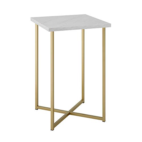 WE Furniture AZF16LUXWMG Side Table, 16