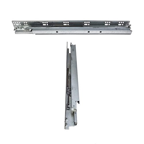 One Pair - 24'' High End Undermount Full Extension Concealed Drawer Slides with SOFT CLOSE and 100Lb Load Capacity for drawers with 1/2'' to 5/8'' material