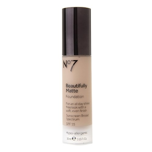 Boots No7 Beautifully Matte Foundation, SPF 15, Cool Ivory 1.01 fl oz (30 ml)