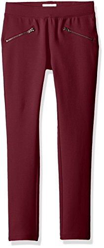 The Children's Place Big Girls' Stretch Zipper Ponte Pant, Sugar Beet 90005, 5 by The Children's Place (Image #1)