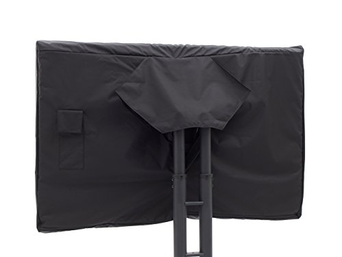 Covermates - Outdoor TV Cover - Fits 55 to 59 Inch TV's - Elite - 300 Denier Stock-Dyed Polyester - Full Coverage - Front Interior Fleece Lining - 3 Year Warranty - Water Resistant - Black