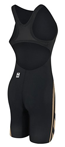 TYR AP12 Open Back Speed Suit, Black/Gold, 24