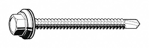 """1"""" Hardened Steel Self Drilling Tapping Screw with Hex Washer Head Type and Zinc Plated Finish"""